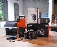 Sony A7rii Package with two lenses and flash Toronto, M4M 1K1