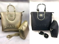 two gold and black Chanel leather 2-way handbag collage Dollard-des-Ormeaux, H9B 2C8