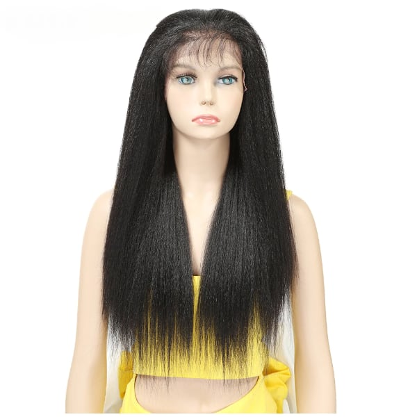 "26"" Black kinky Lace Front wig."