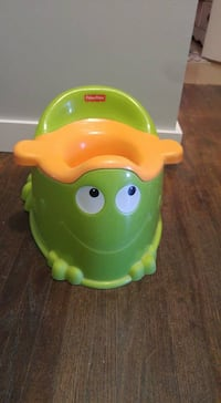 green and yellow Fisher-Price potty trainer South Bruce, N0G