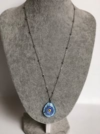 Evil eye glass pendant necklace, perfect for gift  San Jose, 95131