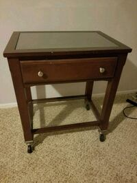 Glass top/and bottom wheeled cart with drawer  Columbus, 43230