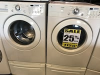 LG TROMM FRONT LOAD WASHER AND DRYER ON PEDESTALS $1125.00 INCLUDES FREE LOCAL DELIVERY  Anderson, 96007