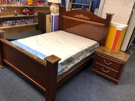 4pc Cherry Queen Bedroom Set