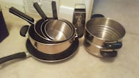 Stainless steel pots and pan set Oakville