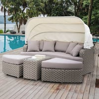 4 piece Outdoor Patio Furniture Sale Sofa Ottoman Side Table Riverside