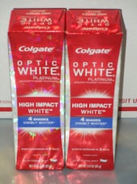 NEW Colgate Optic White Platinum TP - $2.50 Each Hyde Park, 12601
