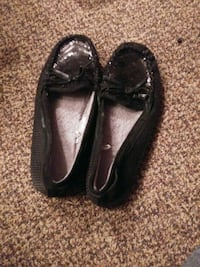 pair of black leather loafers Canton, 44706