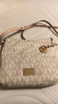 White and gray michael kors leather shoulder bag Sterlington, 71280