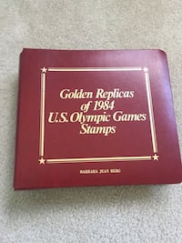 Gold Olympic stamps