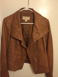 Michael Kors Tan Leather Jacket (Size Medium) Richmond