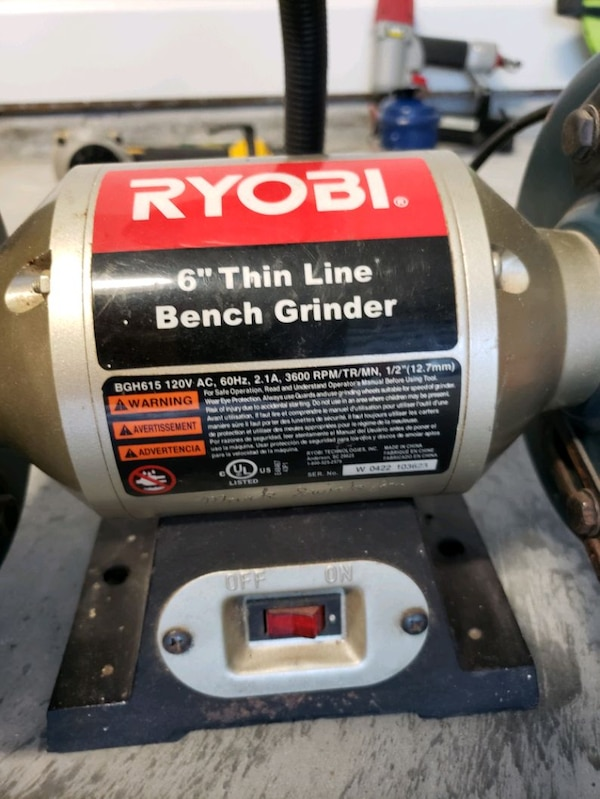 Swell Ryobi 6 Thin Line Bench Grinder Alphanode Cool Chair Designs And Ideas Alphanodeonline