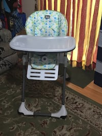 baby's white and blue high chair Columbia, 21045