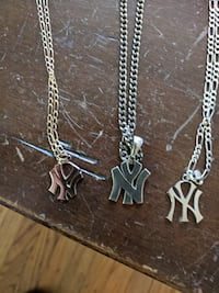3 different NY YANKEES NECKLACES