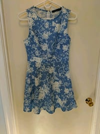Blue and white floral dress Fairfax, 22032