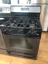 Black Stainless Steel GE Propane Gas Stove