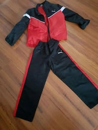 black and red zip-up jacket and pants Laval, H7N 1R4