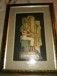 brown wooden framed painting of woman Bakersfield, 93309