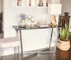 Top Glass Console Table