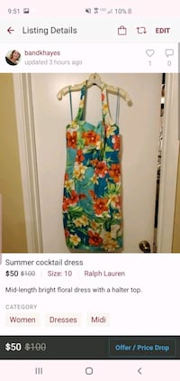 Bright, floral cocktail dress Germantown, 20874