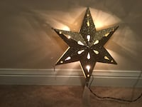 Gold light up Christmas tree star! Priced to sell