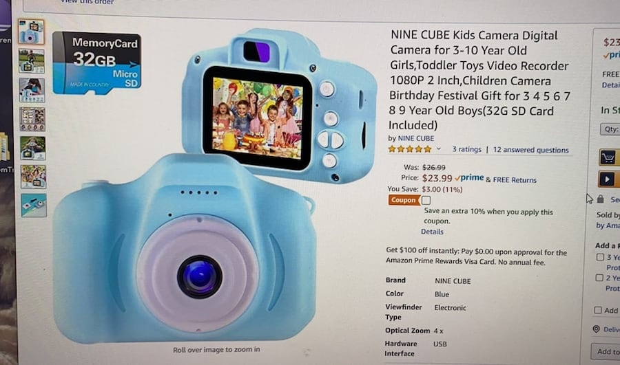 Children Camera Birthday gift 32Gb SD card included 5