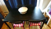 black wooden dining table set 555 km