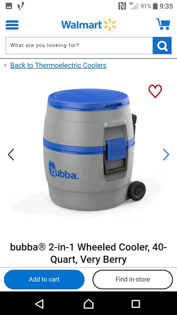 Bubba portable wheeled camping ice cooler  0