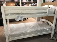 WHITE TWIN/TWIN BUNK BED FRAME FLOOR MODEL @3900 CHESTER AVE Bakersfield