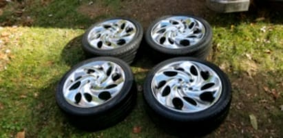 4 17 in 4x108 wheels rims and tires