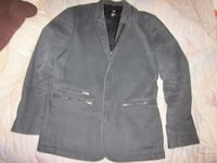 H & M Cotton Denim Modern Blazer Zipper Jacket - Size 40R Winnipeg