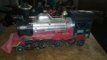 Vintage toy model train locomotive, with-