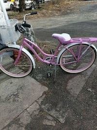 pink and white cruiser bike Ashley, 18706