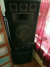 black and gray subwoofer speaker Brooklyn, 11211