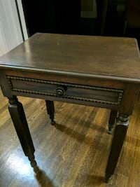 Antique end table table