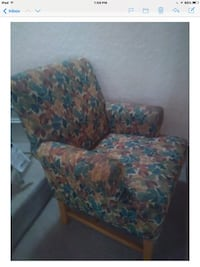 Blue and pink floral sofa chair Palm Harbor