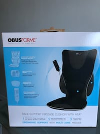 ObusForme back Support Massage Cushion with Heat  Toronto, M1H
