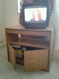 TV stand with turn table.