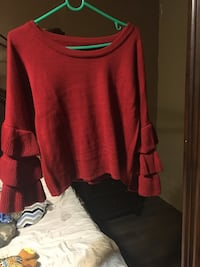 red scoop-neck long-sleeved shirt North Highlands, 95660