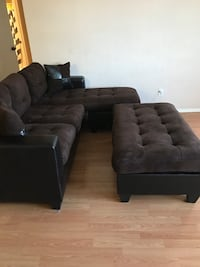 Small sectional with ottoman