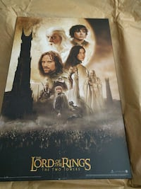 Mounted Lord of the Rings Movie posters. Calgary