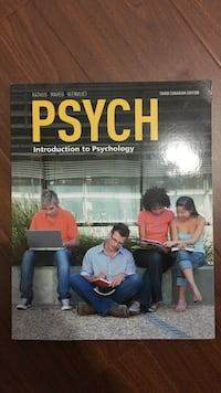 Introduction to Psychology textbook third edition Toronto, M5T