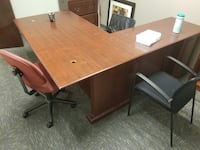 L-shaped desk - fair condition Brentwood