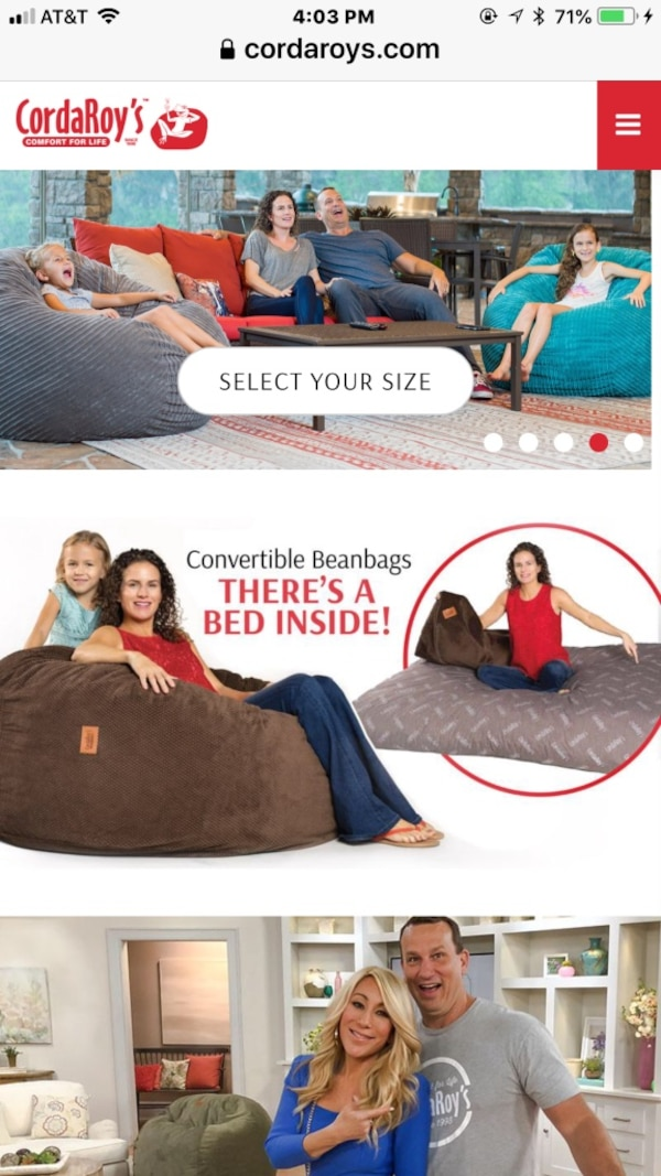 Used Queen Size Bean Bag Chair Bed For Sale In Oakland Letgo