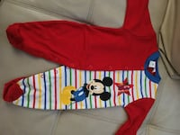 baby's red and blue Mickey Mouse footies Vallejo, 94590
