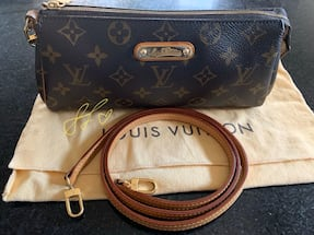 Authentic Louis Vuitton LV Eva Clutch Crossbody Monogram