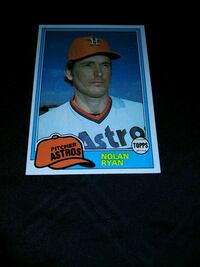 1981 TOPPS NOLAN RYAN BASEBALL CARD Upper Darby, 19026