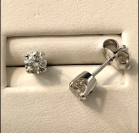 14K White Gold .58ct. Diamond Stud Earrings *Compare at $2,100 Vaughan, L4J 3M8