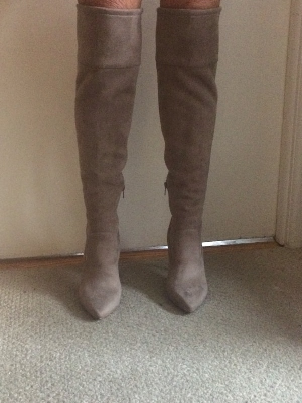 a101e3f666c Used MIchael Kors beige stretch knee-high boots for sale in New York - letgo