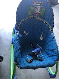 Baby's blue and green bouncer London, N5Y 6M4